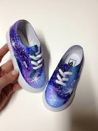 infant toddler vans painted galaxy shoes kids shoes custom