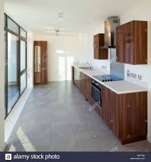 fitted kitchen in show home development of houses flats and a