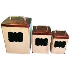 Vintage Food Storage Containers - vintage wooden kitchen canisters set of 3 6440 rsd liked on