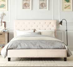 Italian Double Bed Designs Wood Italian Design New Chester Queen Size Light Beige White Quality
