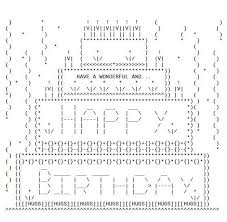happy bday cake for facebook ascii happy birthday bro