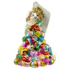 christopher radko bunny stack ornament 3 rabbits 8 5 hop on top