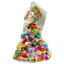christopher radko bunny stack ornament 3 rabbits 8 5 hop on top