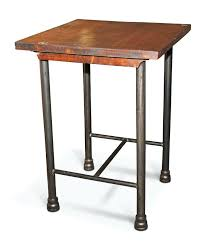 side table stained wood crate bedside table nightstand end by