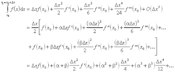 Gaussian Integral Table Numerical Methods Lecture Notes Integration