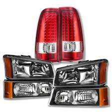 2004 silverado tail lights chevy silverado 2500 2003 2004 black headlights and led tail lights