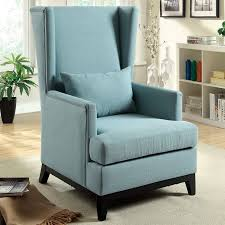 High Back Accent Chair Blue High Back Accent Chair Lustwithalaugh Design Best Place