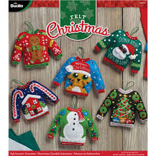 shop plaid bucilla seasonal felt ornament kits ugly