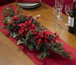 real looking poinsettia u0026 berry centerpiece holiday silk