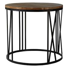 industrial dulwich round coffee and side table zurleys