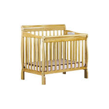 dream on me aden mini convertible crib finish natural 628 n