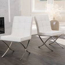 Genuine Leather Dining Room Chairs by Home Loft Concepts Milania Genuine Leather Upholstered Dining