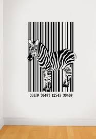 wall decals stickers home decor home furniture diy barcode zebra wall art sticker african deca animal vinyl mural wa512