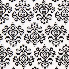 white fabric with black ornaments ornament fabric