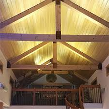 Led Ceiling Strip Lights by Ultra Warm White Led Strips Light Up The Vaulted Ceilings Of This