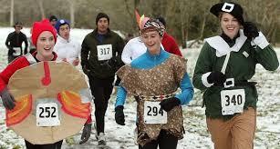winter is powerless to stop bainbridge turkey trotters