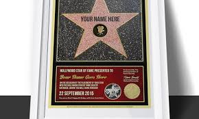 hollywood star certificate hollywood star gifts groupon