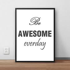 online get cheap awesome wall stickers aliexpress com alibaba group vintage poster retro painting slogan be awesome everyday antique wall sticker cafe pub bar living room house decor 42x30cm