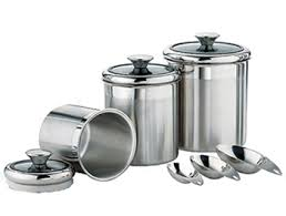 stainless steel canister sets kitchen enchanting 30 kitchen canister sets stainless steel design ideas