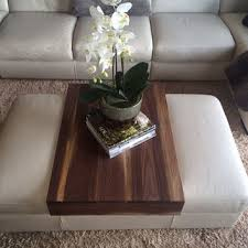 Ottoman Tray Walnut Ottoman Tray Wood Ottoman Wrap From Kennedywoodworking