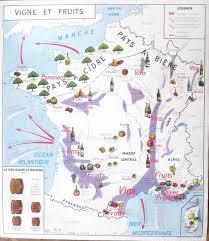 New France Map by French Vintage Poster Wine Cider Beer 1960 France Winemaker