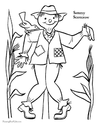 hallowen coloring pages halloween scarecrow coloring pages