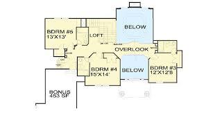 5 bedroom floor plan luxury 5 bedroom house plan 13438by architectural designs