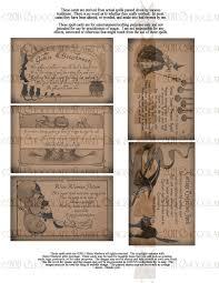 halloween witch spell cards digital download printable prim images