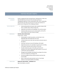 Hostess Resume Example by Hostess Resume Free Resume Example And Writing Download