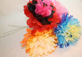How To Make Mexican Paper Flowers - heidi boyd flower power how to make giant tissue paper blooms