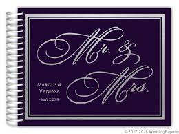 purple wedding guest book purple and faux silver foil wedding guest book wedding guest books