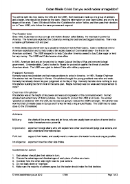 Ks3 Forces Worksheet Ks3 Cold War Teachit History