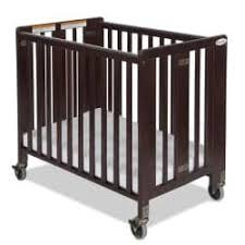 foundations hideaway compact folding crib with mattress free