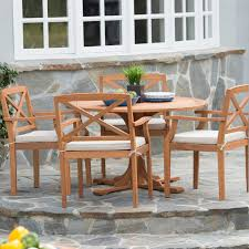 Wood Patio Dining Table by Coral Coast Summer Acacia Wood 8 Piece Patio Dining Set Hayneedle