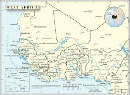Continent Of Africa Map by Africa Map Of The West World Map