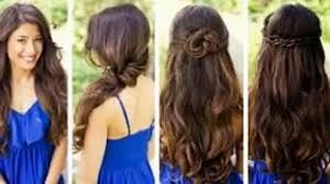 easy hairstyles for wavy medium length hair fast and cute hairstyles for curly hair easy casual hairstyles