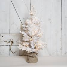 white lighted tree in burlap the white rabbit stl