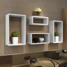 white floating shelves high gloss wall cubes books dvd storage