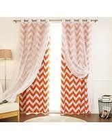 Grommet Chevron Curtains Holiday Deals U0026 Sales On Orange Sheer Curtains