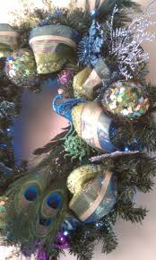 134 best christmas peacock theme images on pinterest peacock