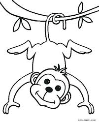 printable coloring pages monkeys sock monkey coloring pages
