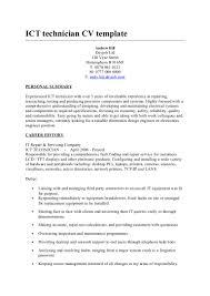 electronics technician resume samples ict technician cv template