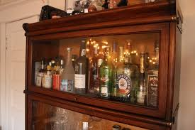Glass Bar Cabinet Designs Vibrant Creative Liquor Cabinet Ideas Brown Wooden Glass