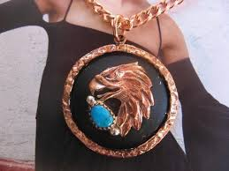 solid copper necklace images Solid copper turquoise stone pendant and 20 inch chain set cp30sll jpg&a