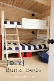 Free Diy Bunk Bed Plans by Easy Strong Cheap Bunk Bed Diy Wood Projects Pinterest