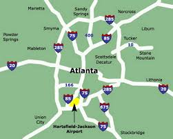 Atlanta Ga Airport Map by Atlanta Airport Map