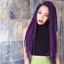 grey and purple combined together style box breads box braids hairstyles hairstyles with box braids