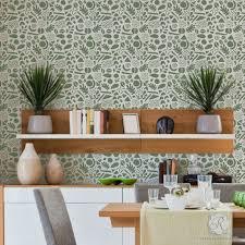 modern geometric shapes wall stencils for diy nursery kids decor