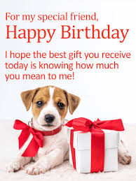 you mean a lot to me happy birthday card for friends birthday
