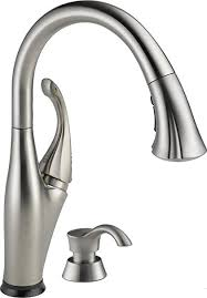 delta touch kitchen faucet delta 9192t sssd dst single handle pull touch kitchen
